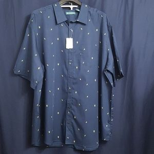 NWT Cubavera mini Avocado designed shirt size 3X